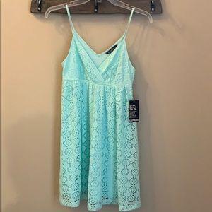 Mint green lace sundress
